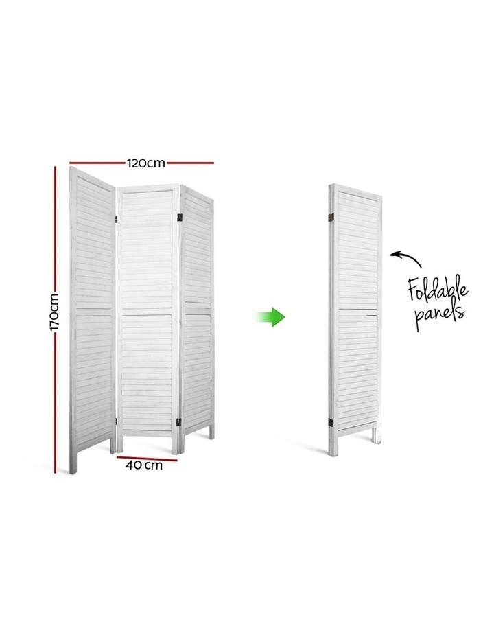 3 Panel Room Divider Screen Privacy Wood Foldable Timber Stand White 170 image 2