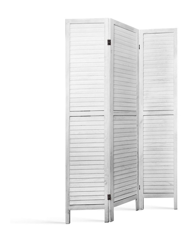 3 Panel Room Divider Screen Privacy Wood Foldable Timber Stand White 170 image 3