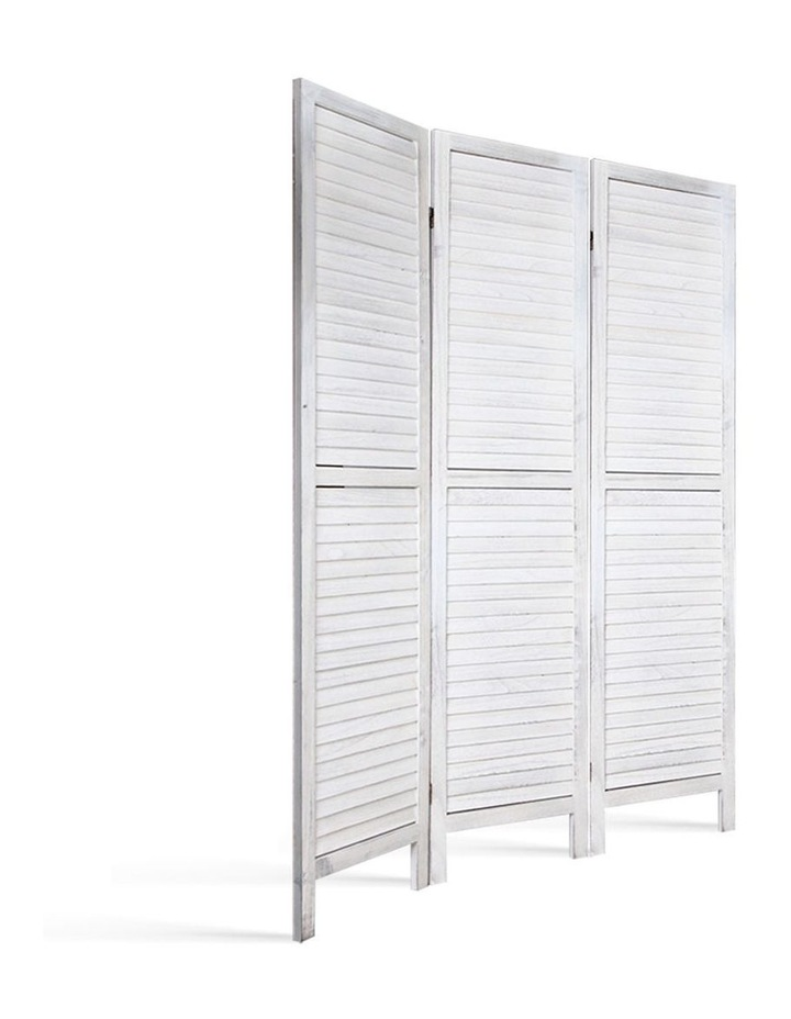3 Panel Room Divider Screen Privacy Wood Foldable Timber Stand White 170 image 4