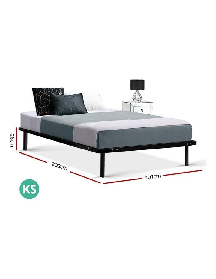 King Single Size Metal Bed Frame - Black image 2