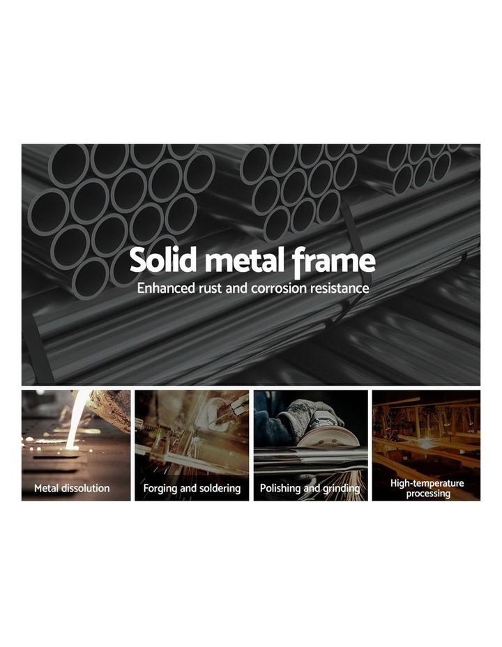 King Single Size Metal Bed Frame - Black image 4