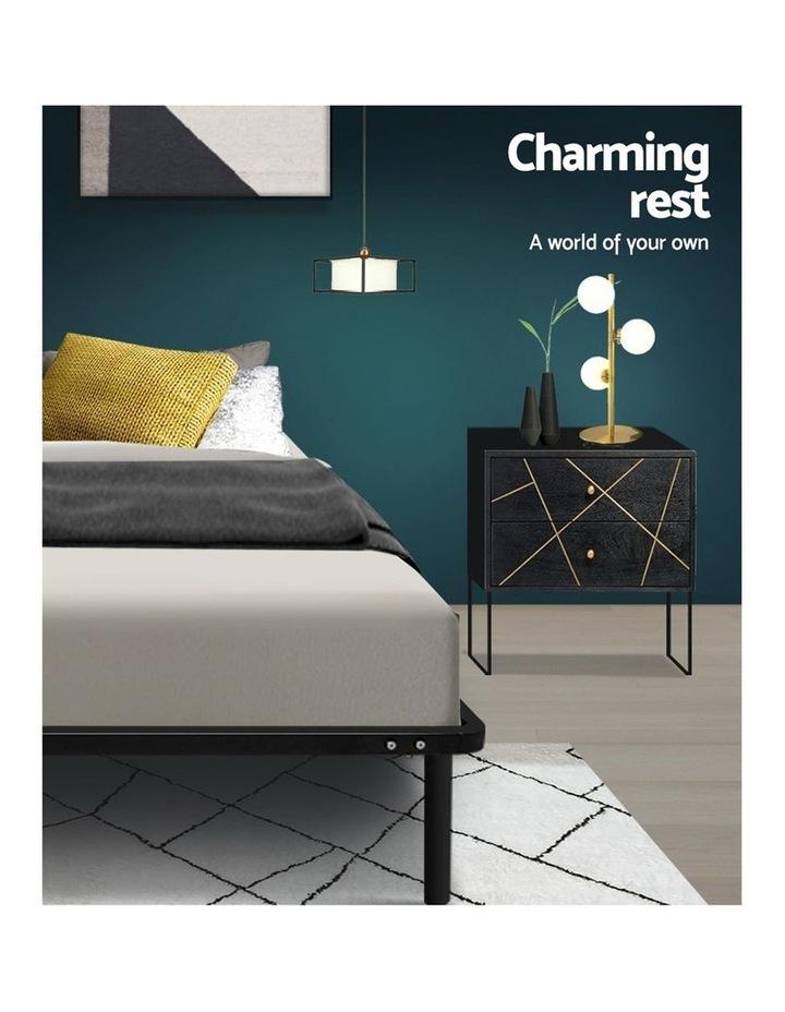 King Single Size Metal Bed Frame - Black image 6