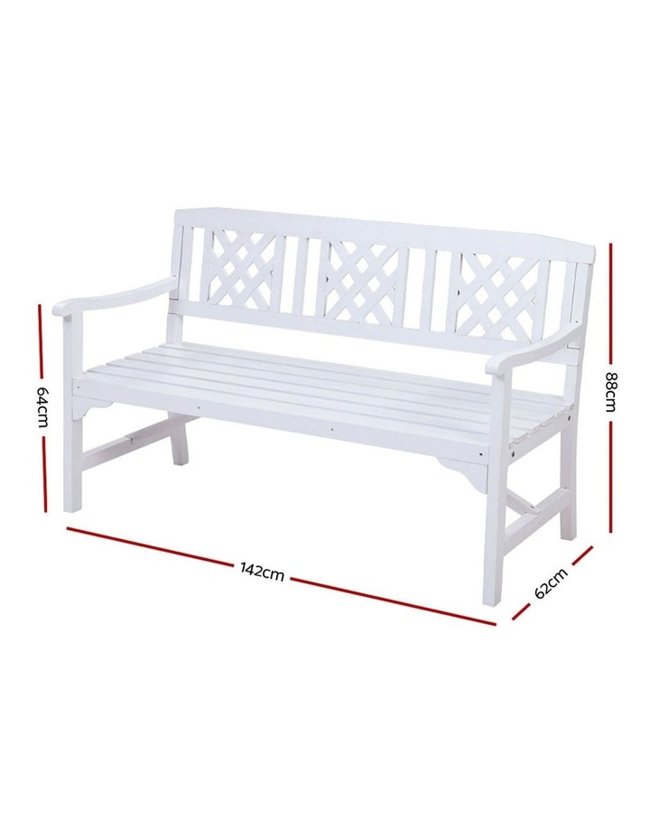 Wooden Garden Bench 3 Seat Patio Furniture Timber Outdoor Lounge Chair image 2