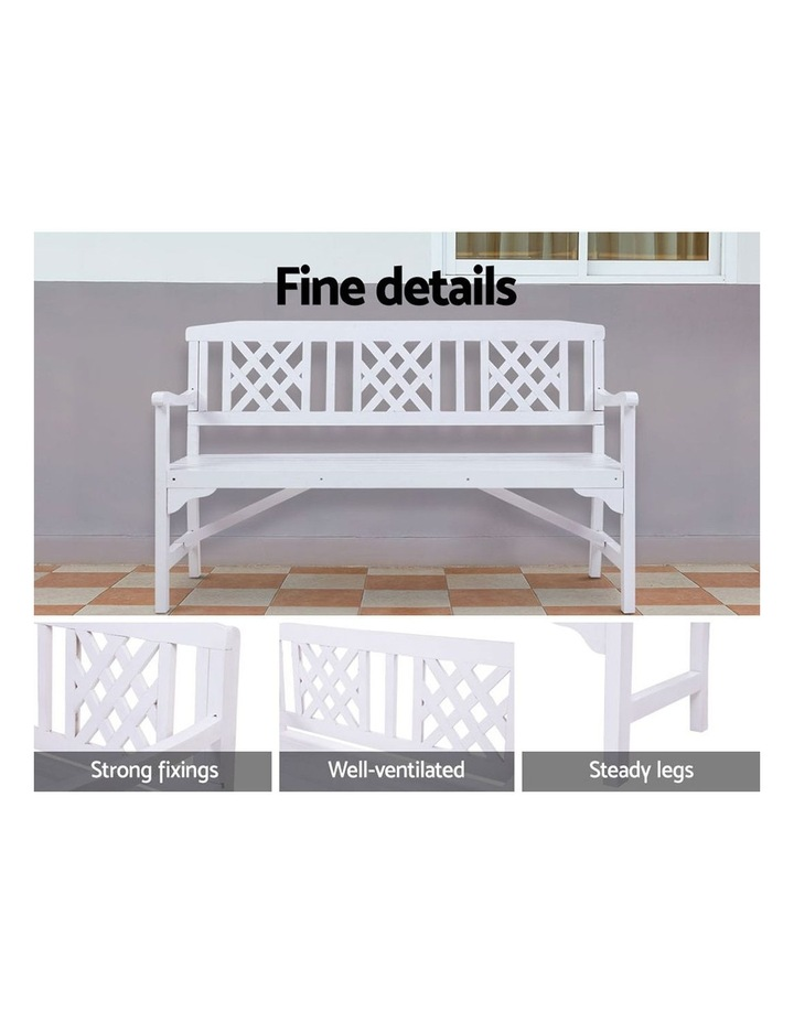 Wooden Garden Bench 3 Seat Patio Furniture Timber Outdoor Lounge Chair image 4