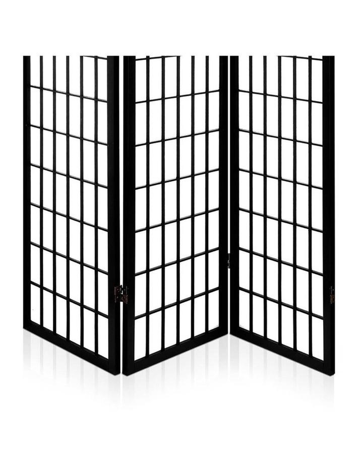 3 Panel Wooden Room Divider - Black image 5