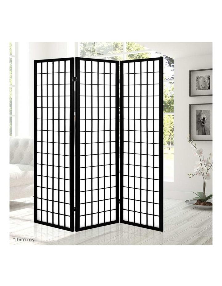 3 Panel Wooden Room Divider - Black image 6