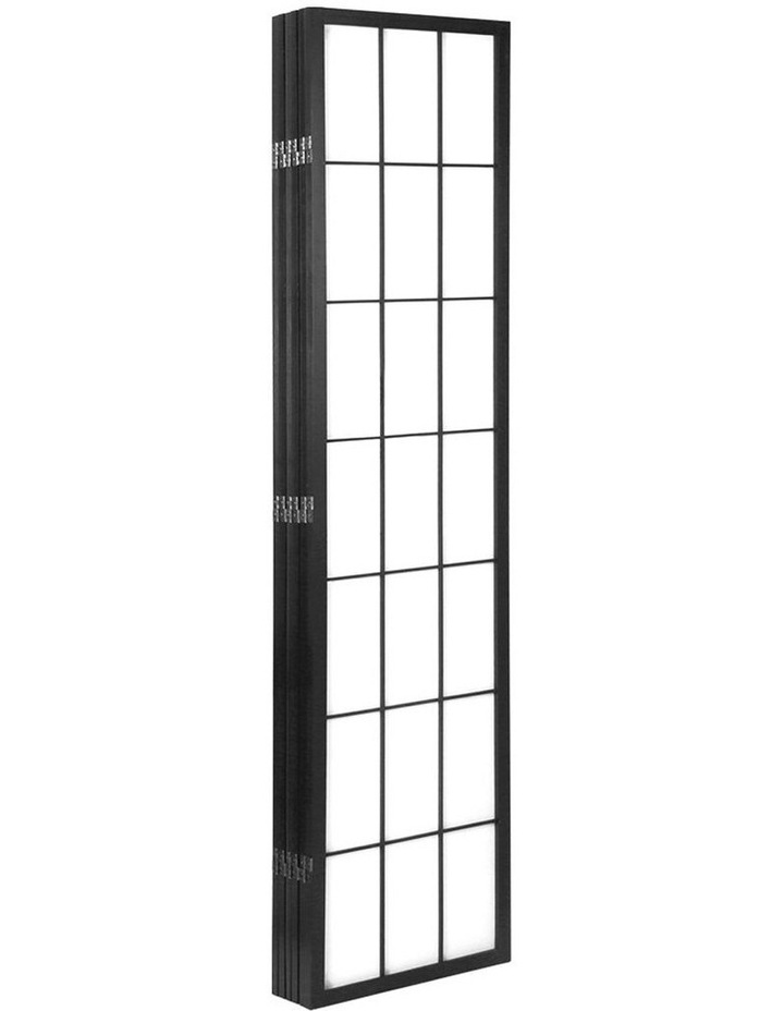 6 Panel Room Divider Screen Privacy Dividers Pine Wood Stand Black White image 4