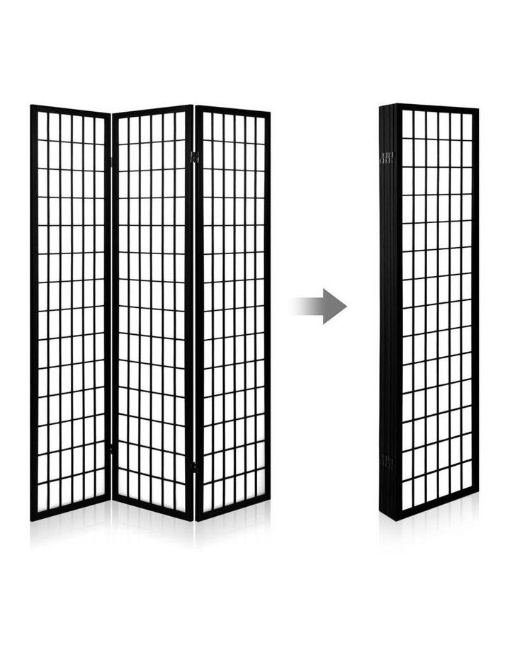 4 Panel Wooden Room Divider - Black image 5