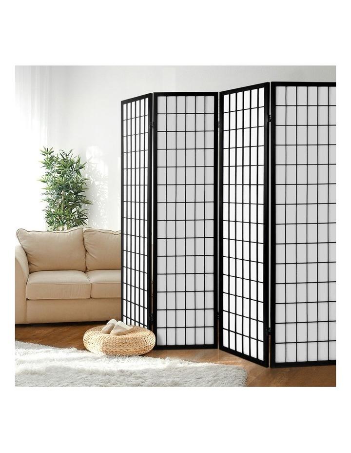 4 Panel Wooden Room Divider - Black image 6