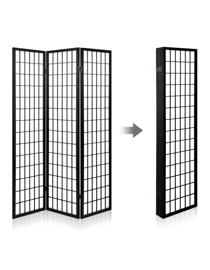 6 Panel Room Divider Screen Dividers Timber Privacy Stand Black image 3