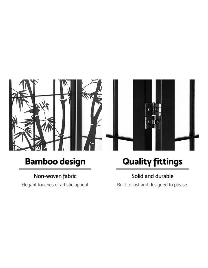 3 Panel Room Divider Screen Privacy Dividers Pine Wood Stand Shoji Bamboo Black White image 3