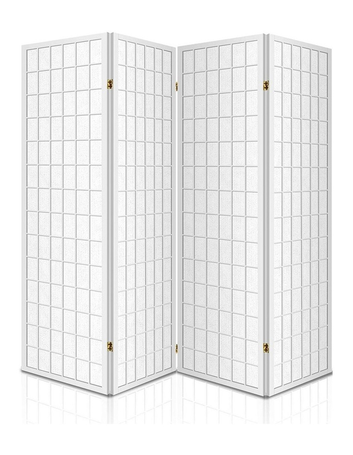 4 Panel Wooden Room Divider - White image 3