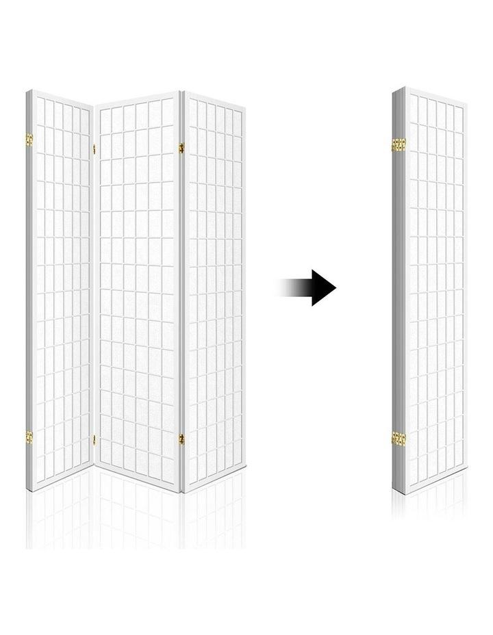 4 Panel Wooden Room Divider - White image 4