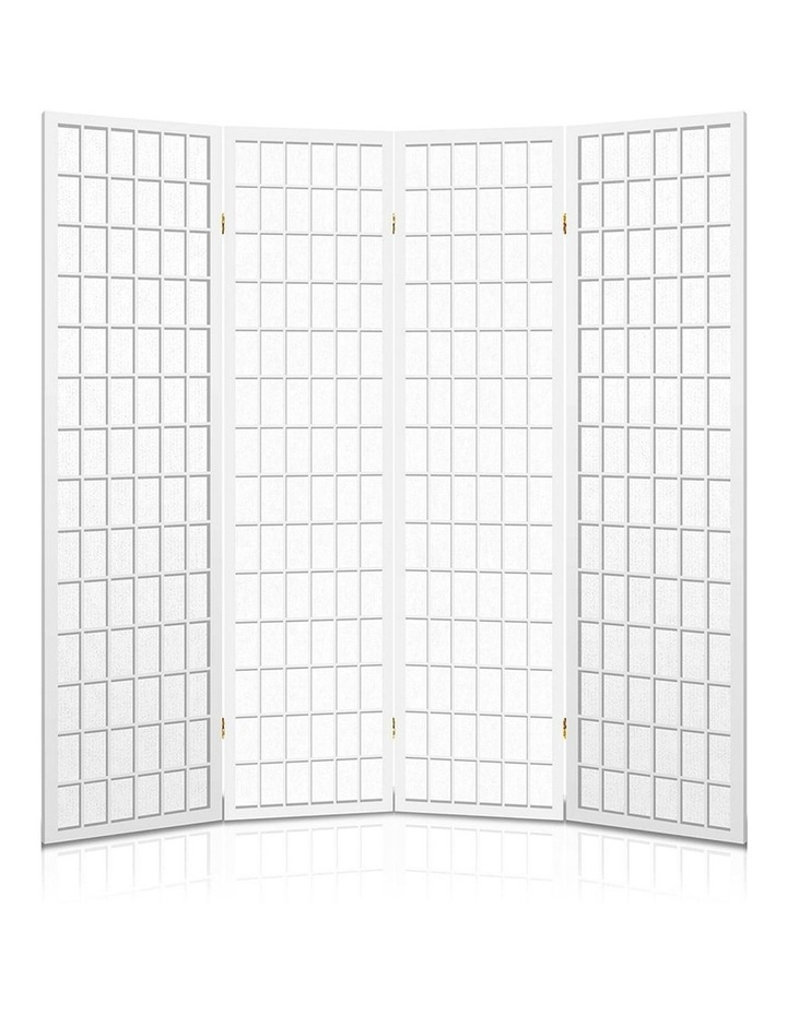 4 Panel Wooden Room Divider - White image 5