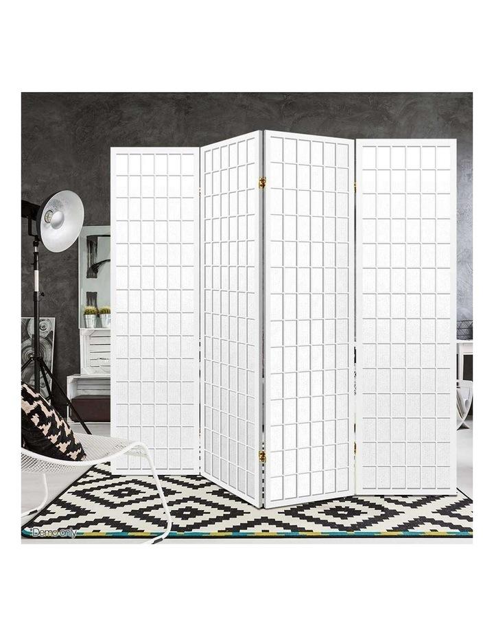 4 Panel Wooden Room Divider - White image 6