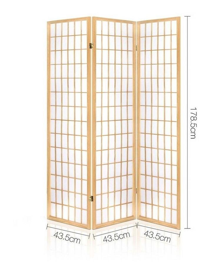 3 Panel Wooden Room Divider - Natural image 2