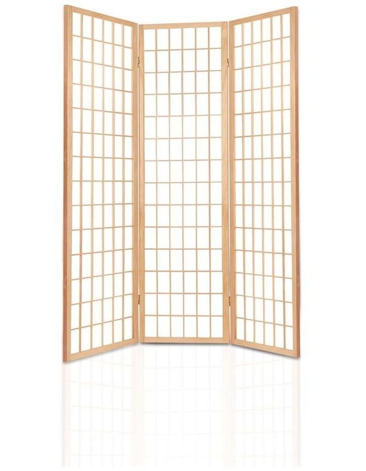 3 Panel Wooden Room Divider - Natural image 4