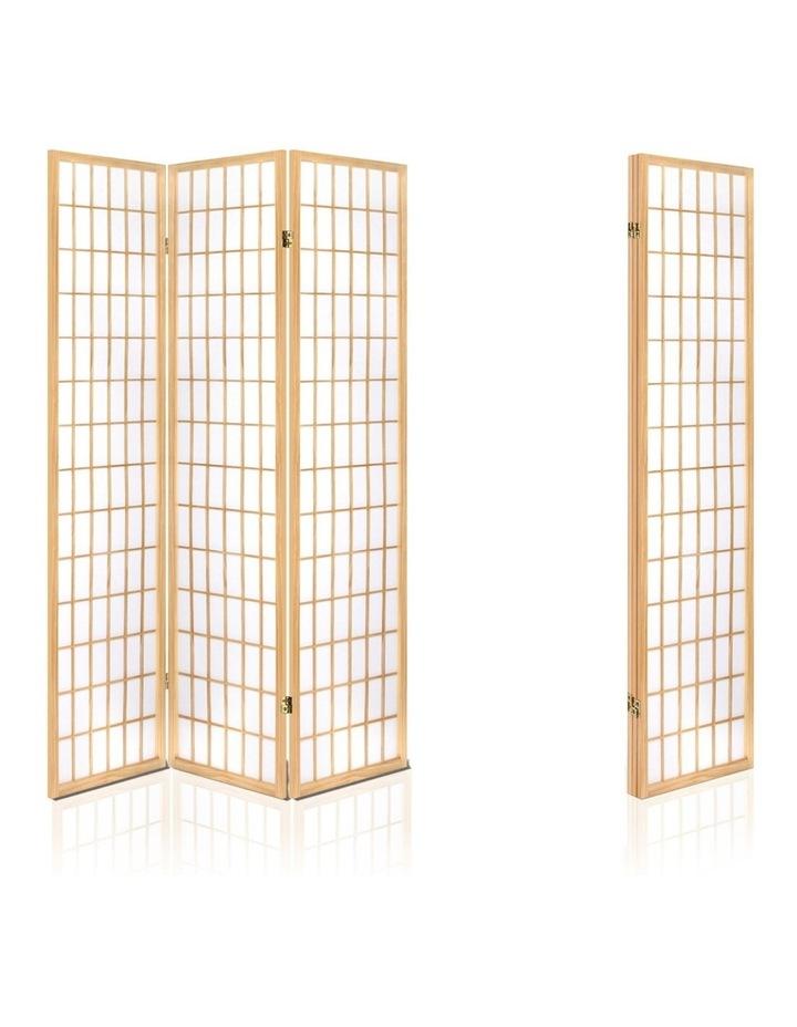 3 Panel Wooden Room Divider - Natural image 5