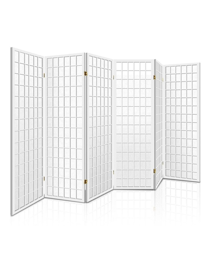 6 Panel Room Divider Screen Wooden Timber White Fold Stand Privacy image 1
