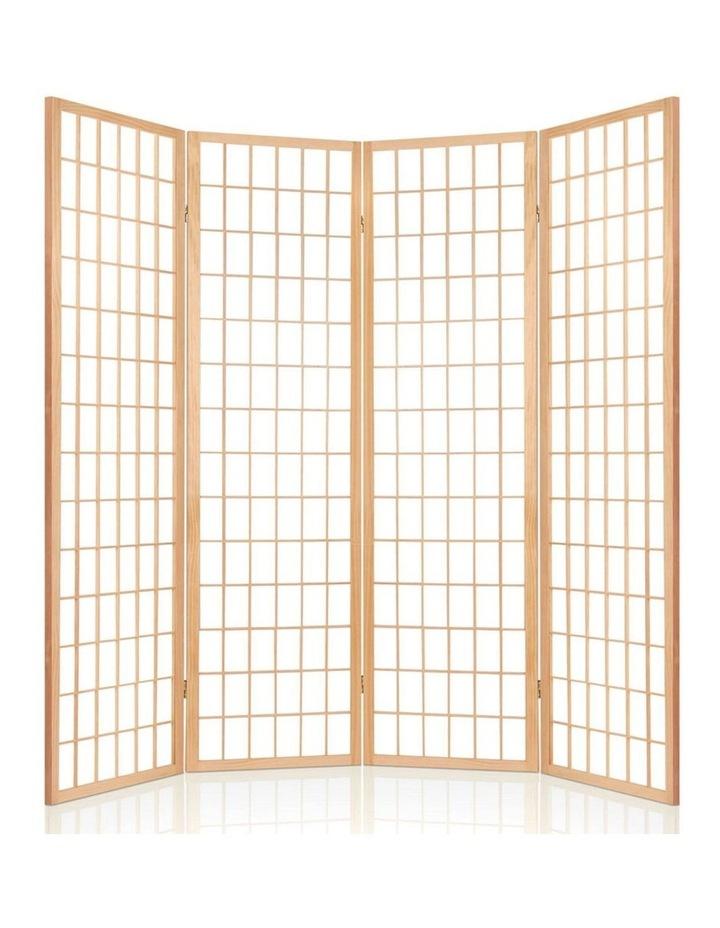 4 Panel Wooden Room Divider - Natural image 4