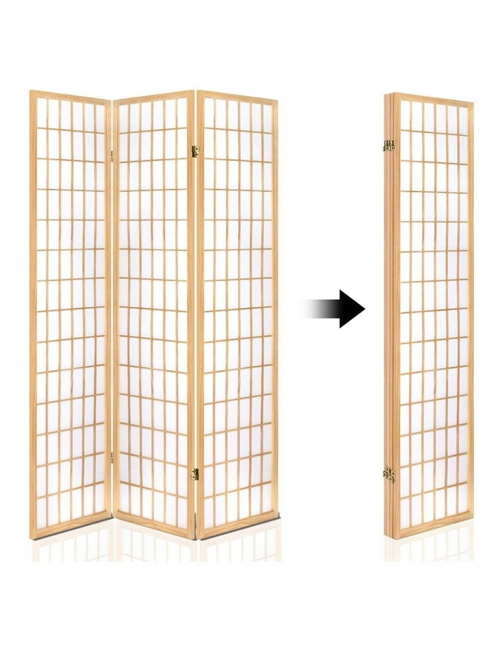 4 Panel Wooden Room Divider - Natural image 5
