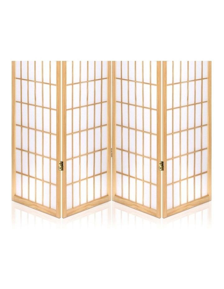 4 Panel Wooden Room Divider - Natural image 6