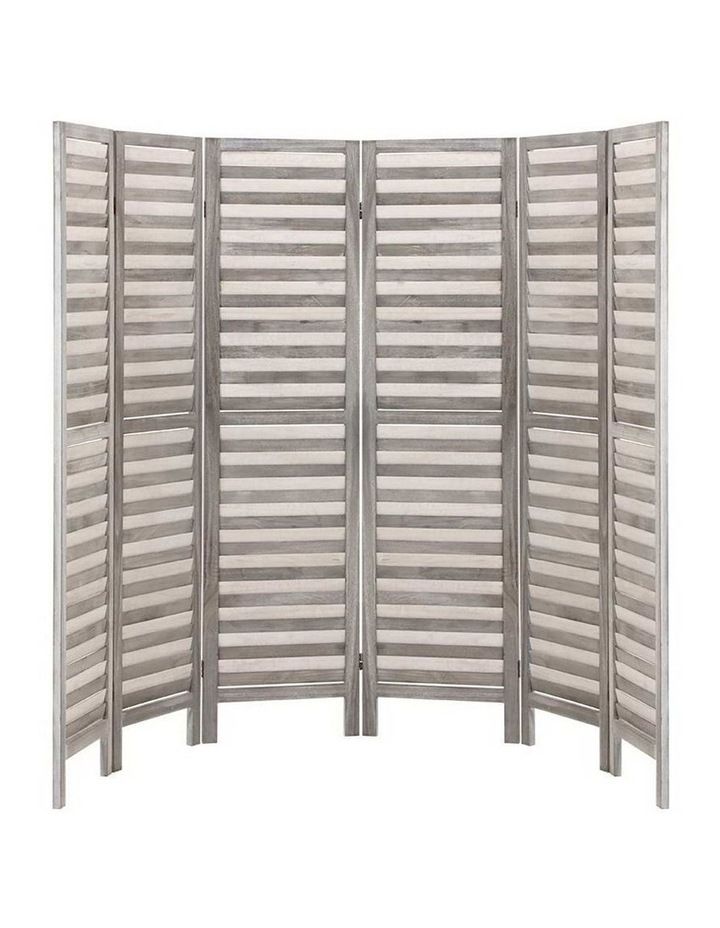 6 Panel Room Divider Screen Privacy Wood Dividers Timber Stand Grey 170cm image 3