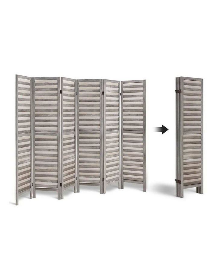 6 Panel Room Divider Screen Privacy Wood Dividers Timber Stand Grey 170cm image 4