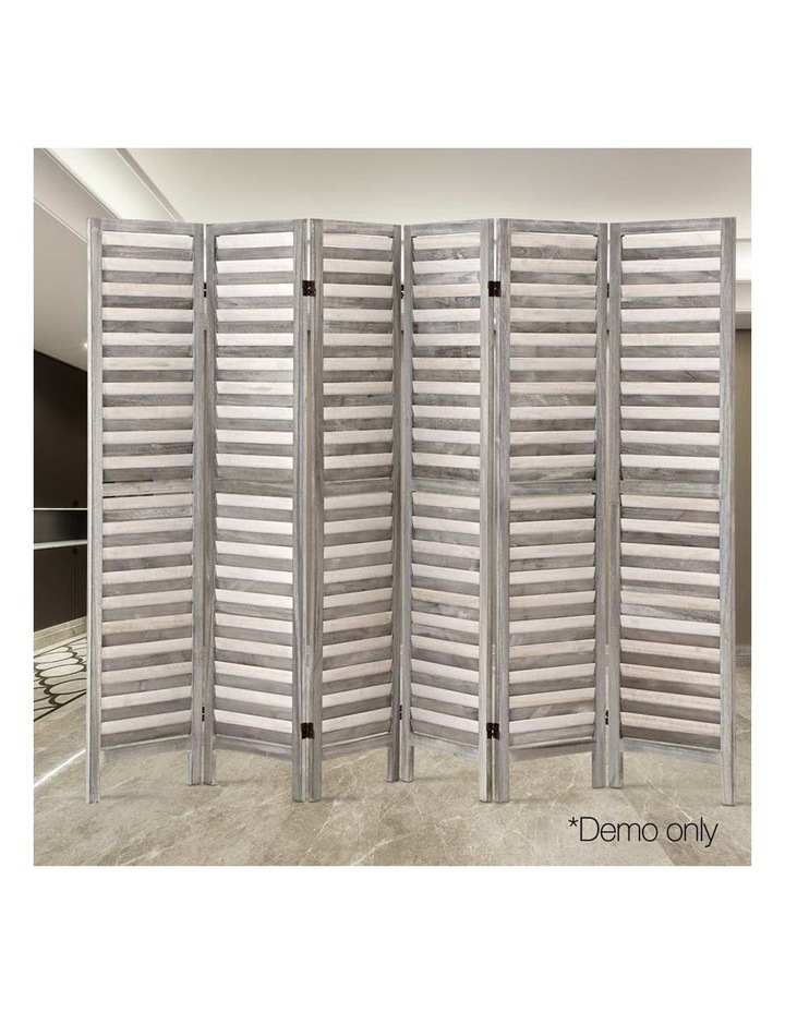 6 Panel Room Divider Screen Privacy Wood Dividers Timber Stand Grey 170cm image 6