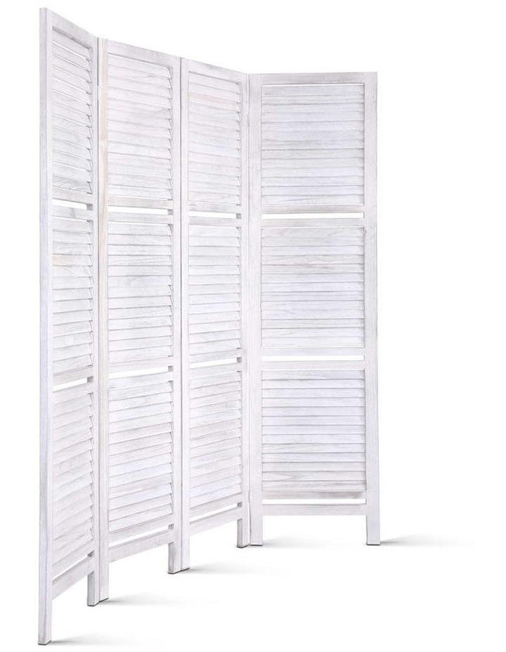 4 Panel Room Divider Screen Privacy Foldable Wooden Timber Stand Shelf image 3