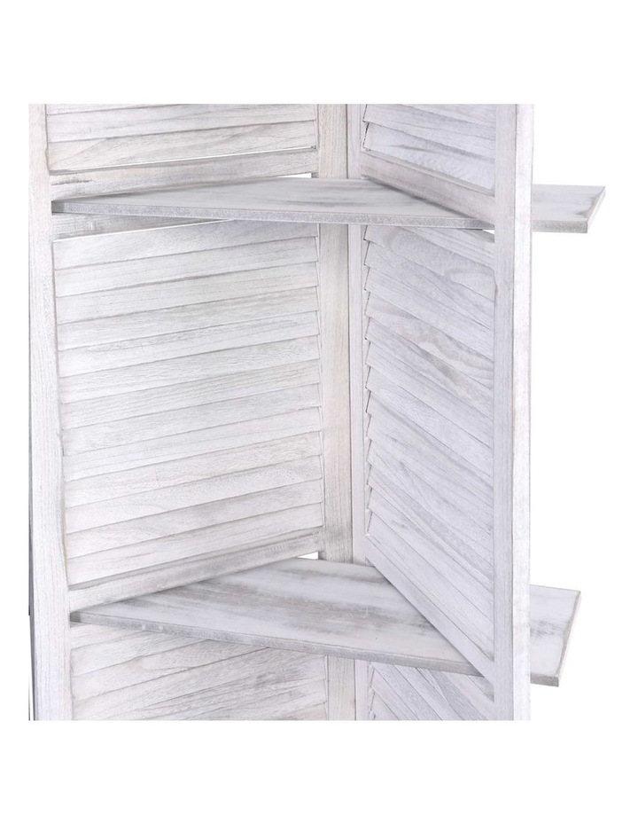 4 Panel Room Divider Screen Privacy Foldable Wooden Timber Stand Shelf image 5