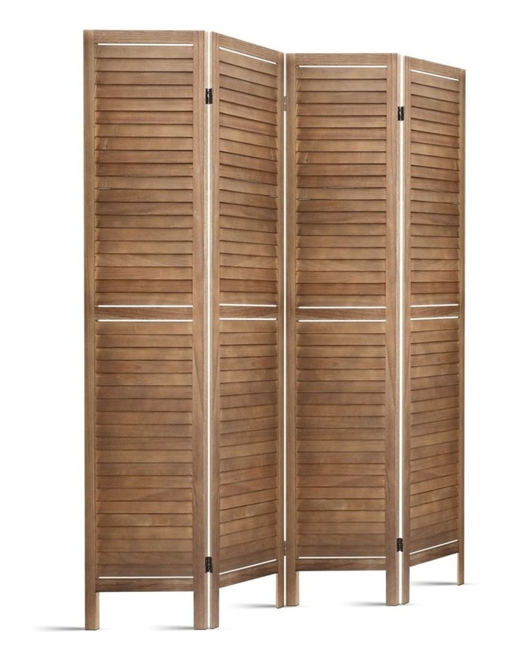 4 Panel Room Divider Screen Privacy Foldable Timber Wood Timber Stand image 1