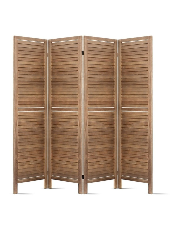4 Panel Room Divider Screen Privacy Foldable Timber Wood Timber Stand image 3