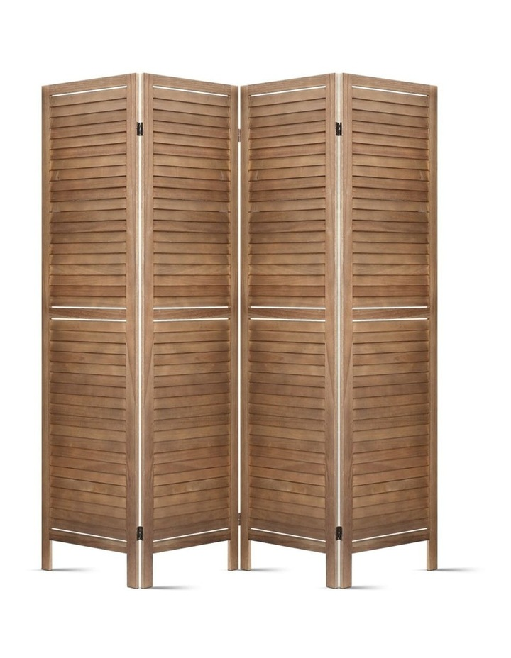 4 Panel Room Divider Screen Privacy Foldable Timber Wood Timber Stand image 4