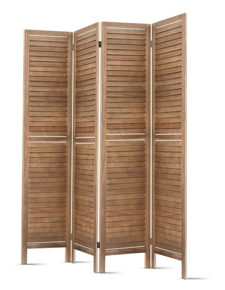 4 Panel Room Divider Screen Privacy Foldable Timber Wood Timber Stand image 5