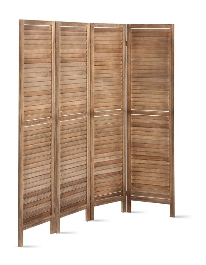 4 Panel Room Divider Screen Privacy Foldable Timber Wood Timber Stand image 6