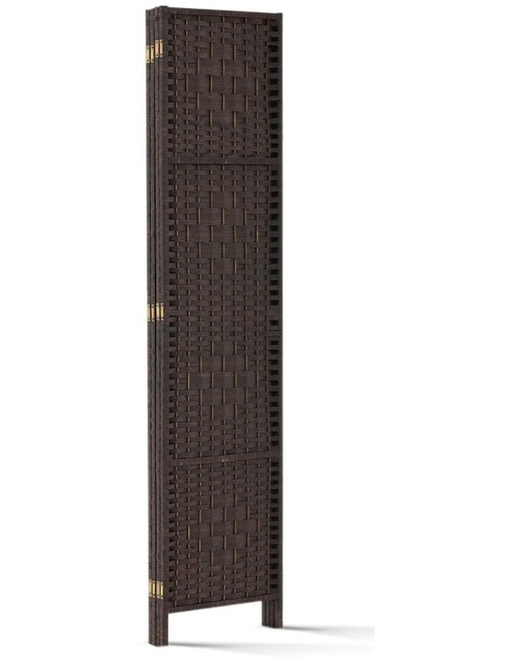 4 Panel Room Divider Privacy Screen Rattan Frame Stand Fold Woven Brown image 5