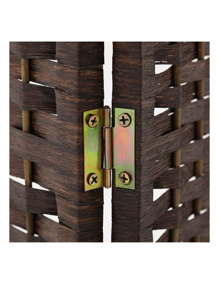 4 Panel Room Divider Privacy Screen Rattan Frame Stand Fold Woven Brown image 6