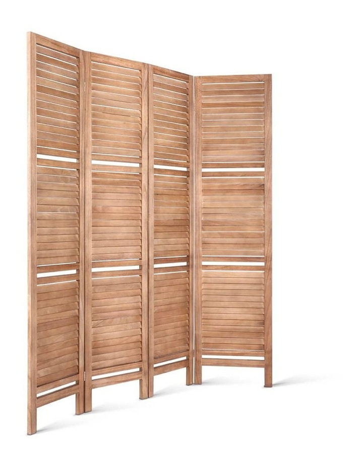 4 Panel Room Divider Screen Privacy Foldable Shelf Wooden Timber Stand image 3