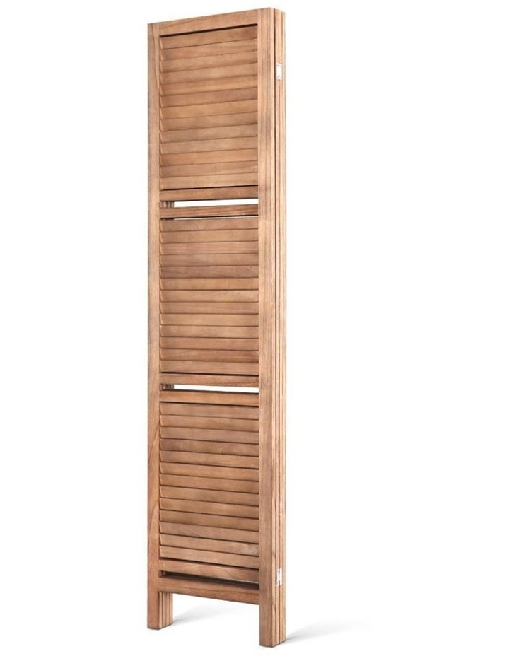 4 Panel Room Divider Screen Privacy Foldable Shelf Wooden Timber Stand image 4