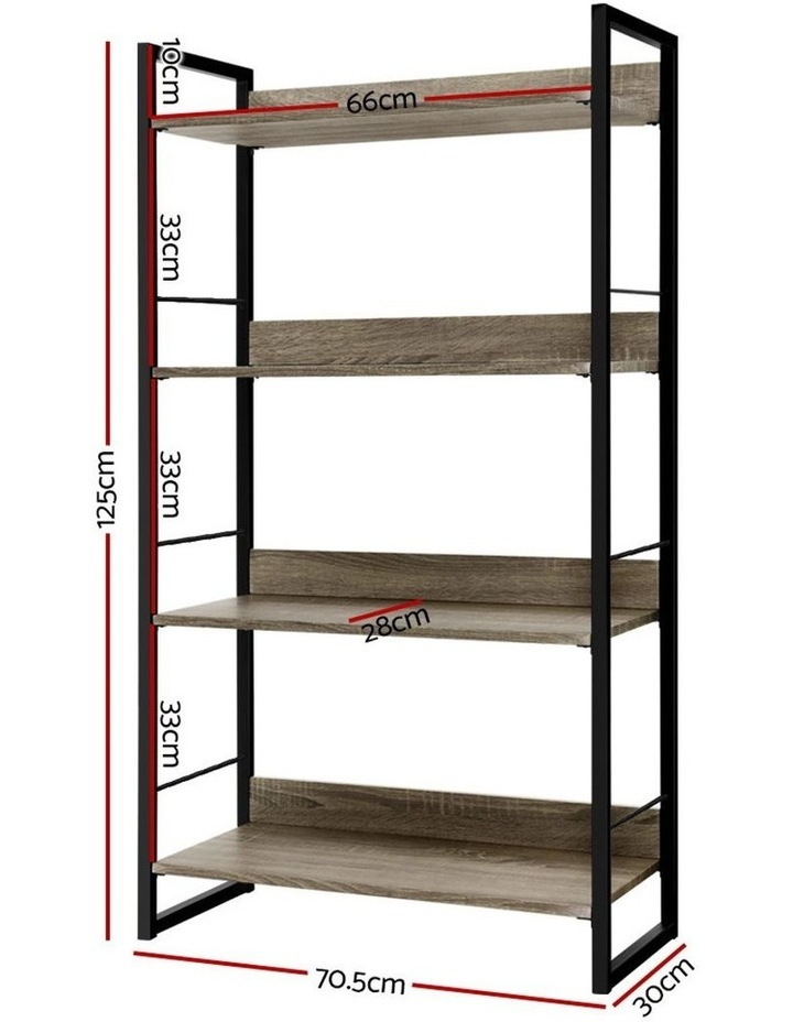 Book Shelf Display Shelves Corner Wall Wood Metal Stand Hollow Storage image 2