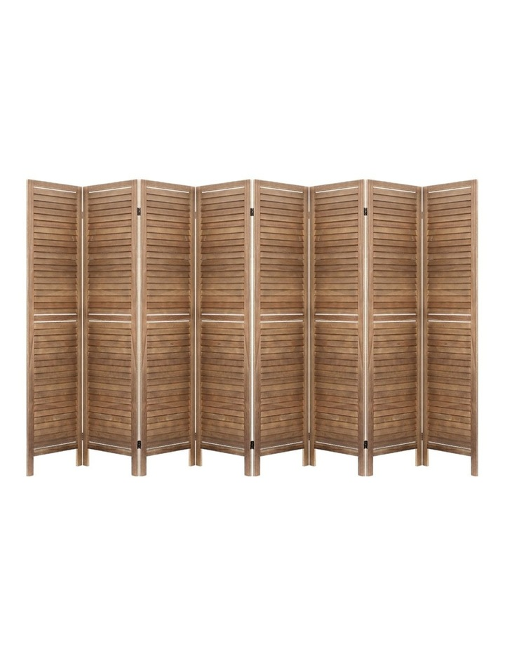 Room Divider Screen 8 Panel Privacy Wood Dividers Stand Bed Timber Brown image 1