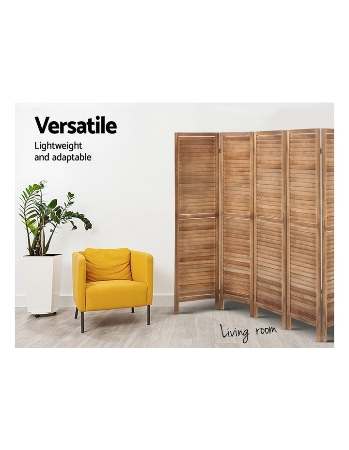 Room Divider Screen 8 Panel Privacy Wood Dividers Stand Bed Timber Brown image 5