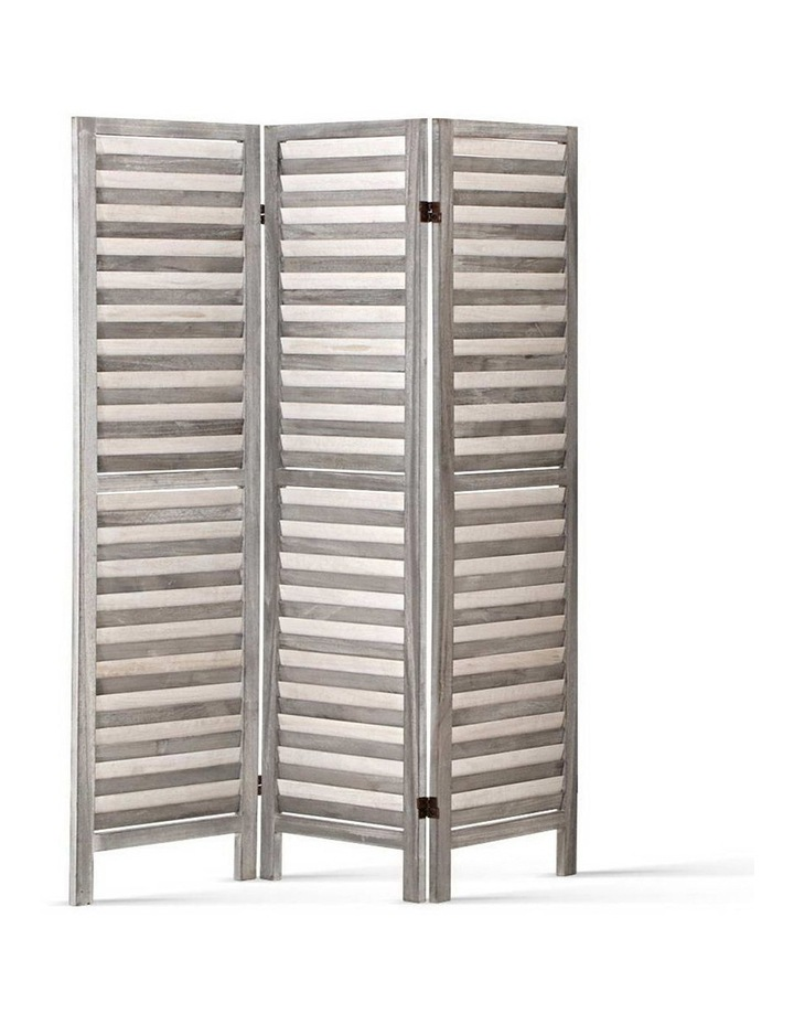 3 Panel Room Divider Screen Privacy Wood Foldable Timber Stand Grey 170cm image 1
