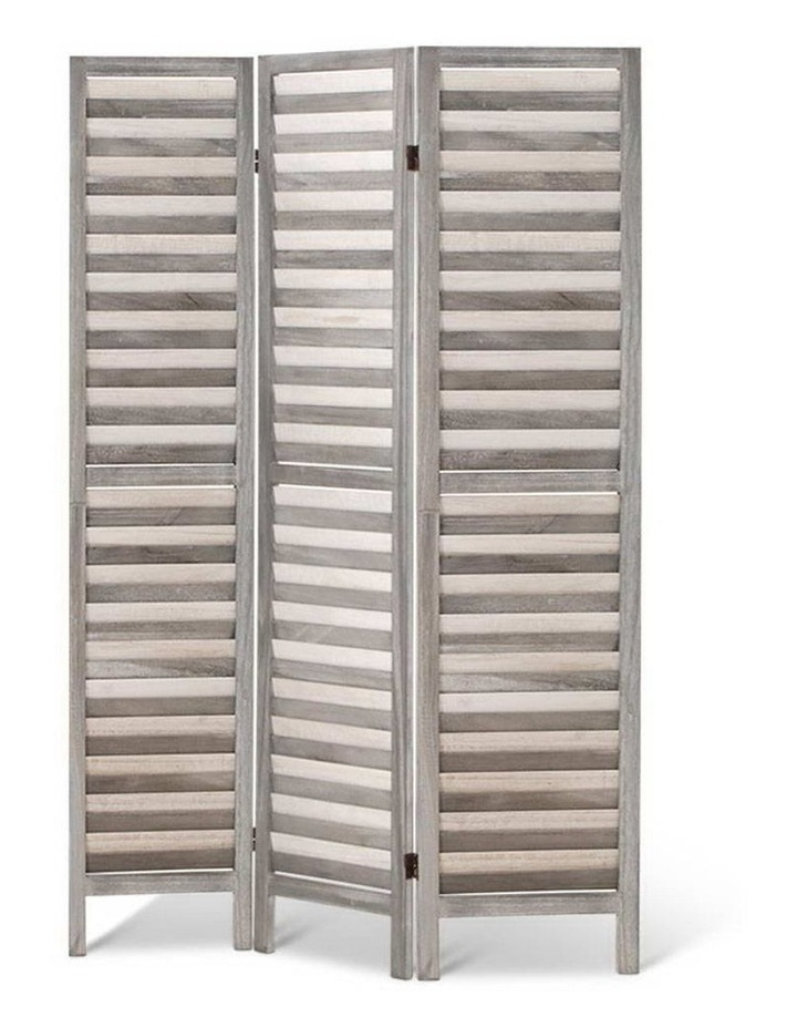 3 Panel Room Divider Screen Privacy Wood Foldable Timber Stand Grey 170cm image 3