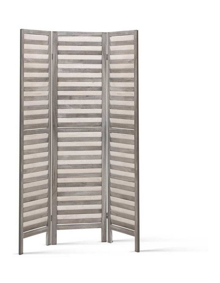 3 Panel Room Divider Screen Privacy Wood Foldable Timber Stand Grey 170cm image 4