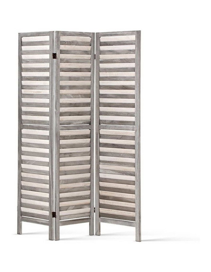 3 Panel Room Divider Screen Privacy Wood Foldable Timber Stand Grey 170cm image 5