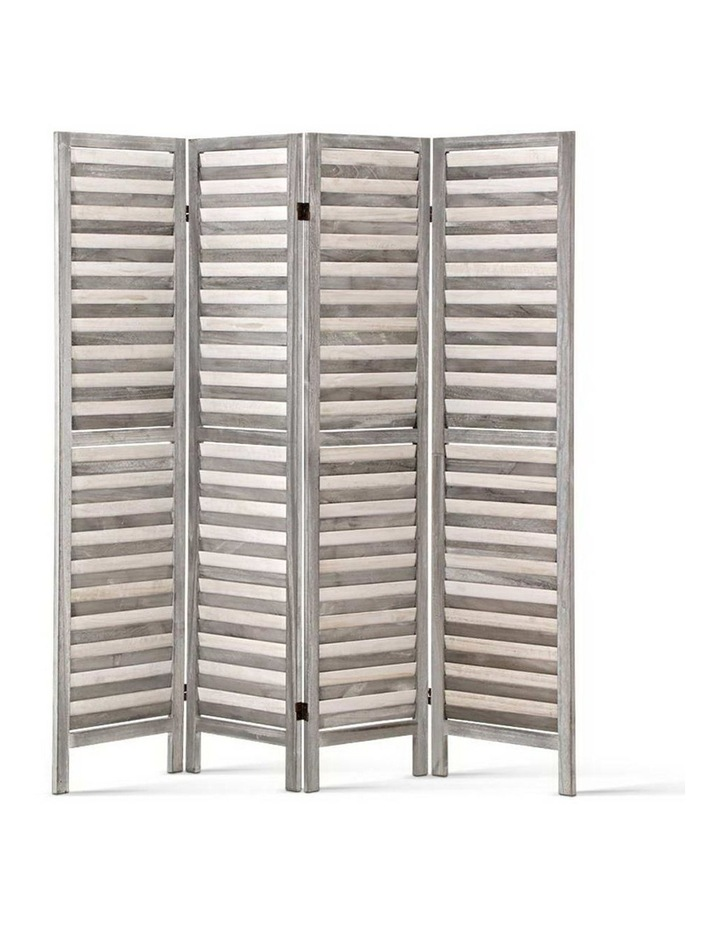 4 Panel Foldable Wooden Room Divider - Grey image 1