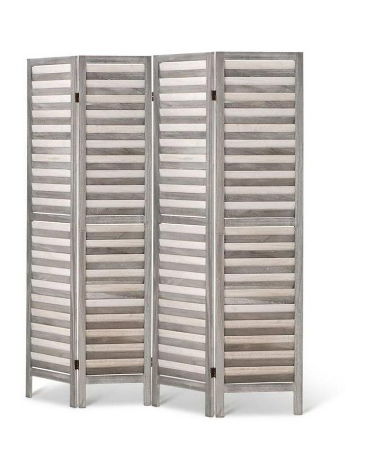 4 Panel Foldable Wooden Room Divider - Grey image 4