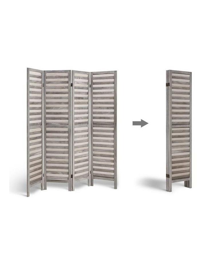 4 Panel Foldable Wooden Room Divider - Grey image 5